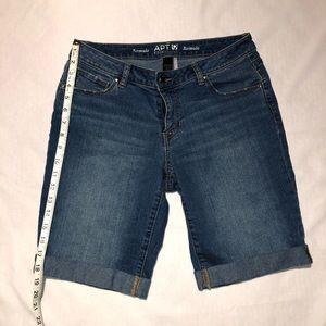 APT. 9 Essentials Cuffed Bermuda Jean Shorts